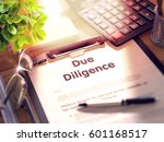 clipboard with due diligence.... | Shutterstock . vector #601168517