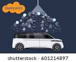 cleaning service realistic car... | Shutterstock .eps vector #601214897