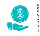 money icon flat. | Shutterstock .eps vector #601233833