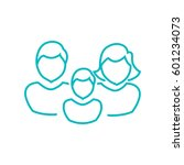 family icon flat. | Shutterstock .eps vector #601234073