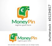 money pin logo template design... | Shutterstock .eps vector #601234817