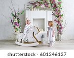 Two Charming Little Girls Play...