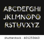 futuristic font. cosmic font.... | Shutterstock .eps vector #601253663