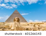 The Sphinx And Pyramid  Cairo...
