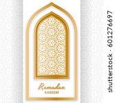 ramadan kareem background.... | Shutterstock .eps vector #601276697