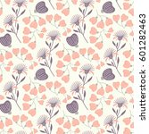 seamless floral pattern with... | Shutterstock .eps vector #601282463