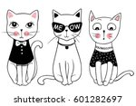 vector series with cute fashion ... | Shutterstock .eps vector #601282697