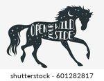 open your wild side. horse... | Shutterstock .eps vector #601282817