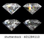 four round brilliant cut...   Shutterstock . vector #601284113