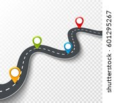 vector 3d road infographic... | Shutterstock .eps vector #601295267