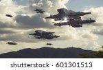 3d rendering. spaceship ufo... | Shutterstock . vector #601301513