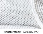 close up of folded white... | Shutterstock . vector #601302497