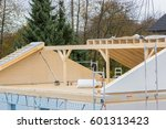 construction site for a new roof | Shutterstock . vector #601313423