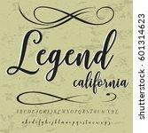 hand drawn typeface set named... | Shutterstock .eps vector #601314623