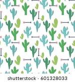 cactus seamless pattern. vector ... | Shutterstock .eps vector #601328033