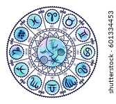Set Of Symbol Zodiac Sign....