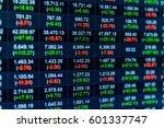 stock market chart stock market ... | Shutterstock . vector #601337747