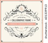 square vintage ornate template... | Shutterstock .eps vector #601339913