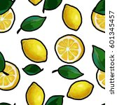 vector seamless pattern with... | Shutterstock .eps vector #601345457