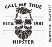 t shirt design  hipster  retro... | Shutterstock .eps vector #601345697