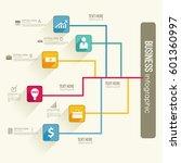 infographic workflow concept... | Shutterstock .eps vector #601360997