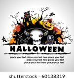 spooky halloween composition | Shutterstock .eps vector #60138319