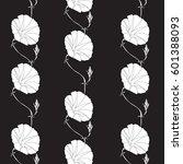 floral hand drawn illustration. ... | Shutterstock .eps vector #601388093