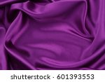Closeup Of Rippled Purple Silk...