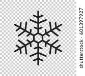 snowflake icon vector...