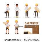 carpenter  joiner  foreman ... | Shutterstock .eps vector #601404023