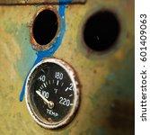 Close Up Vehicle Speedometer...