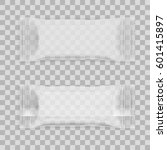 transparent blank white food... | Shutterstock .eps vector #601415897