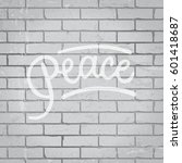 hand drawn lettering slogan on... | Shutterstock .eps vector #601418687