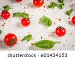 preparation of food background  ... | Shutterstock . vector #601424153
