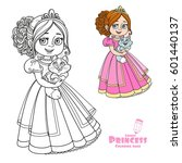 beautiful princess holding... | Shutterstock .eps vector #601440137