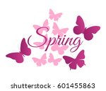 spring  background with... | Shutterstock .eps vector #601455863