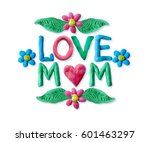 mother's day greeting card with ... | Shutterstock . vector #601463297