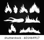 set of hand drawn fire and... | Shutterstock .eps vector #601464917