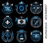 vector vintage heraldic coat of ... | Shutterstock .eps vector #601468607