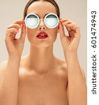 close up portrait of shirtless... | Shutterstock . vector #601474943