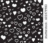 hearts vector seamless pattern. ... | Shutterstock .eps vector #601479983