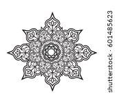 indian outline mandala... | Shutterstock . vector #601485623