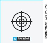target icon. simple outline... | Shutterstock .eps vector #601493693