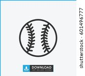 baseball icon. simple outline... | Shutterstock .eps vector #601496777