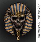pharaoh old skull face vector...