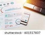 modern white office desk white... | Shutterstock . vector #601517837