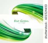 green eco wave abstract... | Shutterstock .eps vector #601524653