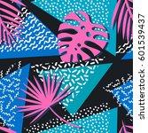 seamless tropical vector... | Shutterstock .eps vector #601539437