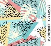 seamless tropical vector...   Shutterstock .eps vector #601539713