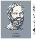portrait of socrates. ancient... | Shutterstock .eps vector #601544837